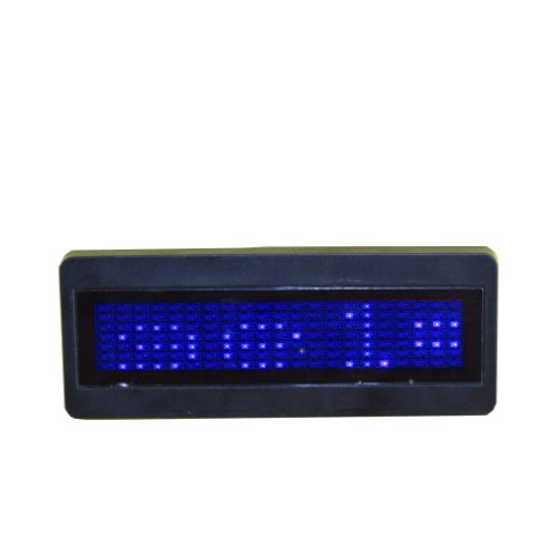 Cr2032 Battery Power Manual Programmable Led Scrolling Name Badge Tag Message Display Sign Board Blue