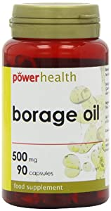 Power Health 500mg Borage Oil Capsules - Pack of 90 Capsules