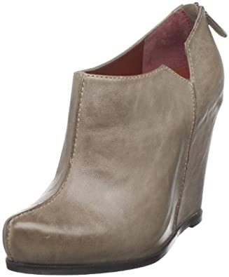 Luxury Rebel Women's Sora Wedge Bootie, Taupe, 38.5 EU/8.5 M US