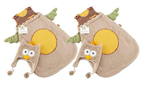 Baby Aspen Snuggle Sack Sleep Sack And Cap, Set Of 2, Owl front-992740