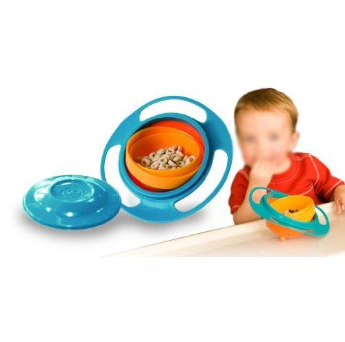 Shennosi® Bol magique rotation 360degrés anti-renversement pour enfant effet gyroscopique avec Couvercle