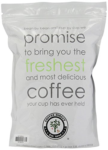 Coffee Bean Direct Italian Roast Espresso, Whole Bean Coffee, 16-Ounce Bags (Pack of 3)