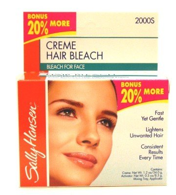 Sally Hansen Creme Hair Bleach for Face (3-pack) with Free Nail File