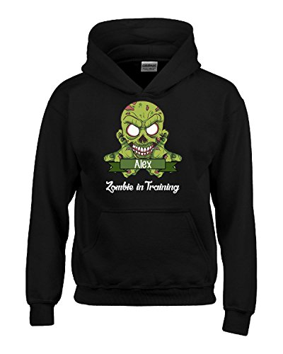 Halloween Costume Alex Zombie In Training Funny College Humor Gift - Kids Hoodie
