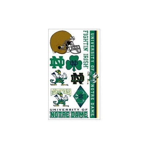 Amazon.com: Notre Dame Fighting Irish Temporary Tattoo
