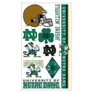 Notre Dame Fighting Irish Temporary Tattoo - 1