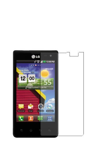 3x LG Lucid 4G VS840 Premium Invisible Clear LCD Screen Protector Kits (3 pieces)