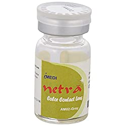 Netra AM02 Yearly Disposable Grey Fancy Contact lens, Power 0
