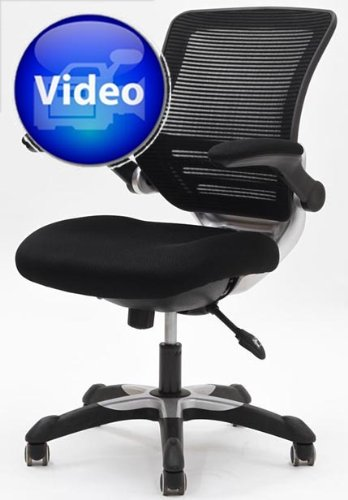 SAVE LexMod Edge Office Chair With Black Mesh Back And Mesh Fabric