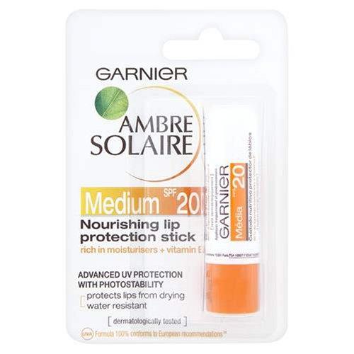 Garnier Ambre Solaire Nourishing Lip Protection Stick Medium SPF20 Rich in Moisturisers And Vitamin E 49g