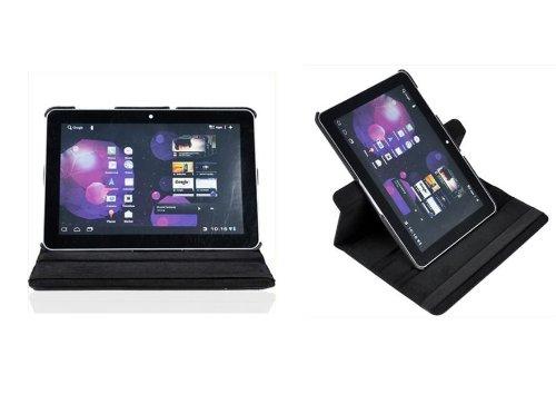 360° Rotierbar Leder Tasche case Sleeve für das Samsung 10.1 Zoll Galaxy Tab 2 P5100 P5110 - Schwarz