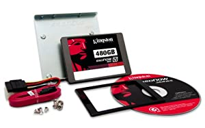 Kingston Digital 480GB SSDNow V300 SATA 3 2.5-Inch Solid State Drive with Adapter (SV300S3D7/480G)