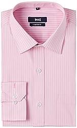 Basics Men's Formal Shirt (8907054397648_14BFS31131_Pink_42)