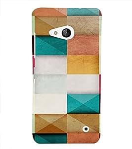 PrintVisa Color Block Pattern 3D Hard Polycarbonate Designer Back Case Cover for Nokia Lumia 550