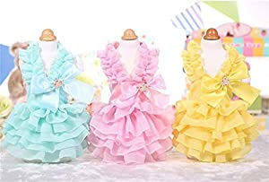 PetsLove Pet Dresses Doggie Skirt Princess Cat Clothes Dog Dress Apparel