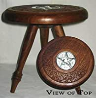 AzureGreen Large Pentagram Altar Table by Ritual Magick