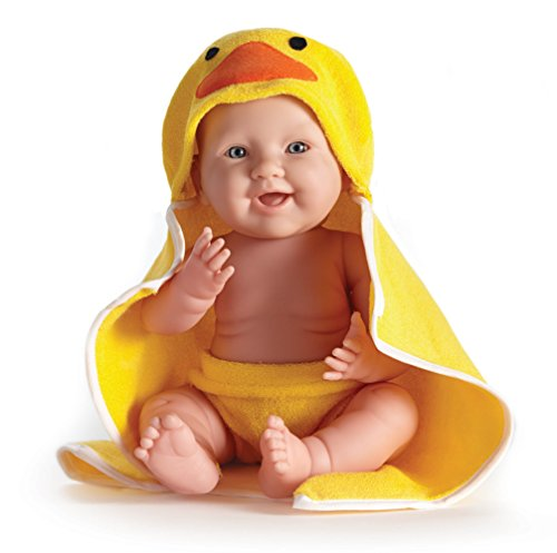 "Jc Toys La Newborn Moments 17"" Doll With Hooded Duck Towel"