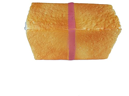 Bread loaf squishy with a pink bow home garden decor for Artificial bread decoration