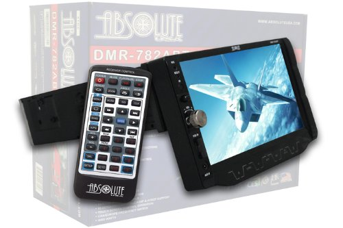 Absolute Dmr-482Abt 7-Inch In-Dash Tft Lcd Monitor Multimedia Dvd Player With Fully Motorized Panel And Touch Screen System