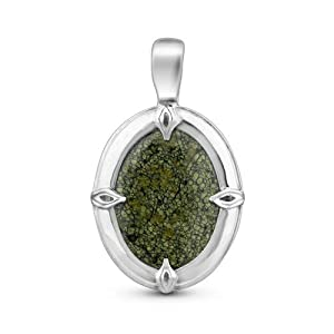 Sterling Silver Serpentine Bold Pendant Enhancer