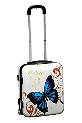50x40x20cm Hand Luggage on Wheels Hard Shell Plastic Suitcase Trolley Bag Approved EasyJet Guarantee