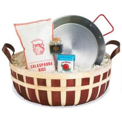 La Tienda Mini Paella Kit in Gift Basket from Spain (Includes 10 inch Paella Pan and Paella Ingredients) image