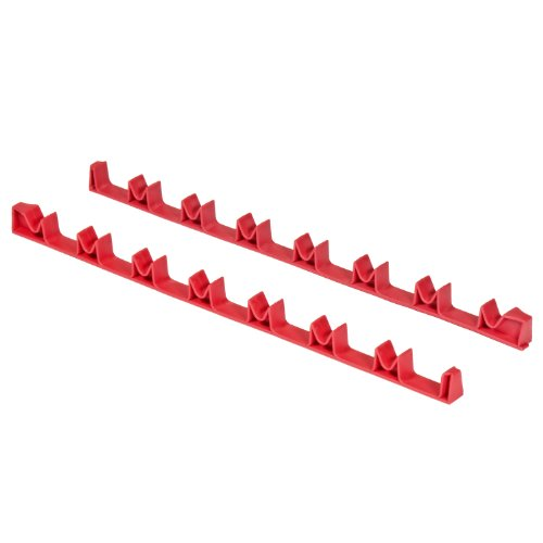 Ernst Manufacturing 6040-Red 14-Tool No-Slip Low-Profile Screwdriver Rail Set