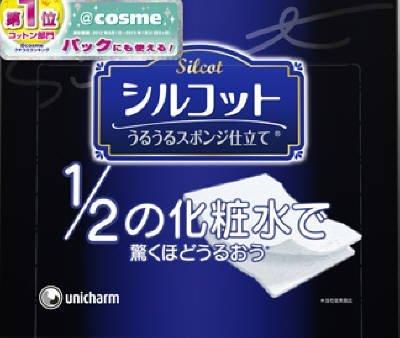 unicharm-silcot-uruuru-sponge-facial-cotton-18-ounce-pack-of-6-by-unicharm