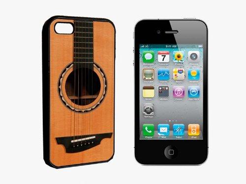 Rock Acoustic Folk Guitar Amp Amplifier Iphone 4 / 4S Black Rubber Bumper Case Cover
