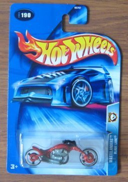 Hot Wheels 2004 Wastelanders Blast Lane RED 190 Motorcycle