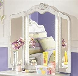 Signature Design by Ashley Zarollina Collection Vanity Mirror, Silver
