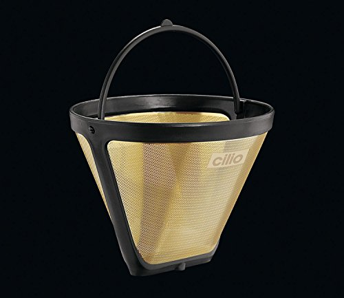 Cilio Premium Reusable Mesh Size 2 Gold Coffee Filter (Coffee Filter Gold 2 compare prices)