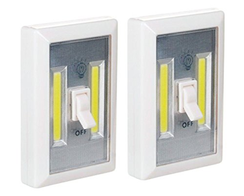 Battery operated led lights 2 pack under cabinet shelf - Battery operated kitchen cabinet lights ...
