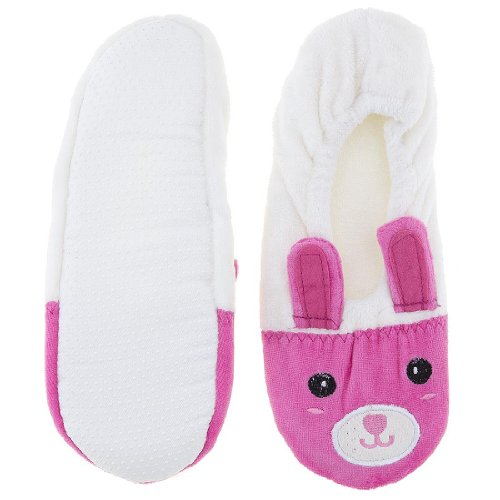 Image of Pink and White Animal Ballerina House Slippers for Women (B009TH2J7C)