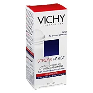 Vichy Laboratories Stress Resist Anti Transparent Roll On Deoodorant for Unisex, 1 Ounce
