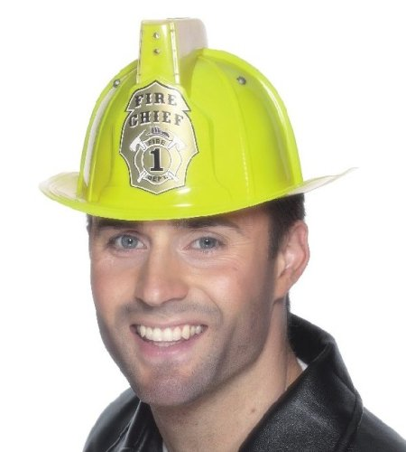 Smiffy'S Firemans Helmet With Flashing Light And Siren Sound Yellow - 1