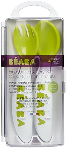BEABA New 2nd Stage Soft Cutlery, Sorbet, 2 Count - 1