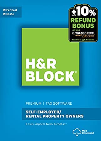 H&R Block Tax Software Premium + State 2016 Mac + Refund Bonus Offer