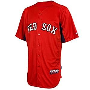 MLB Majestic Boston Red Sox Batting Practice Performance Jersey - Red-Navy Blue by Majestic