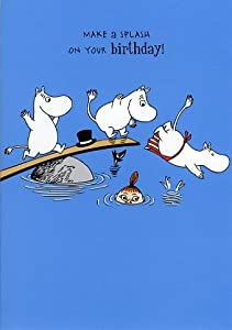 Make A Splash On Your Birthday Moomin Greeting Card