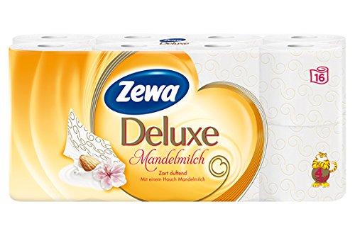 Zewa, Carta igienica deluxe al latte di mandorle, 1 confezione (1 x 16 ...