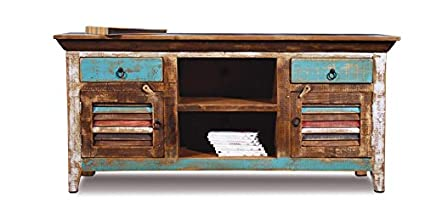 Distressed Reclaimed Solid Wood Credenza / Tv Stand