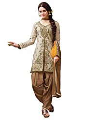 Om Creation grey Embroidered cotton Salwar Suit HS30
