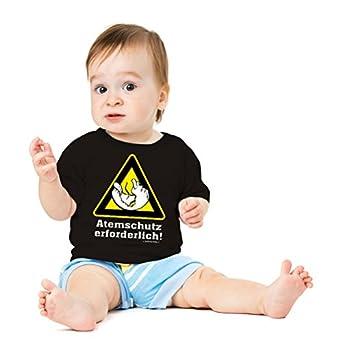 Funshirt Spaßshirt T-Shirt Baby Atemschutz erforderlich Gr.56-62