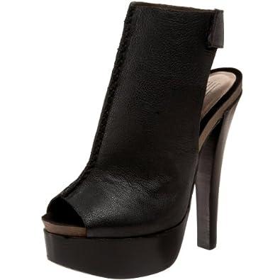 Pelle Moda Women's Shantel2 Slingback Sandal,Black Goat Thilla,5.5 M US