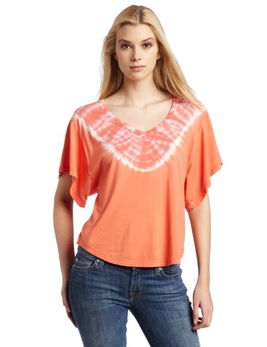 Splendid Women's Flutter Sleeve Tee, Amber, Large