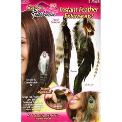 As Seen On Tv 05815S-20 As Seen On Tv 3 Pack Snap-On Feathers Extensions - Case Of 20