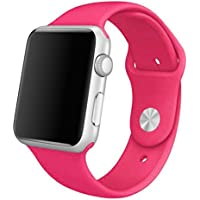 Apple Watch Band Creazy Sports Silicone Bracelet Strap Band For 38mm Apple Watch Hot Pink Hot Pink
