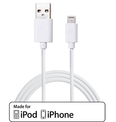 TB1 Products NEW iPhone 6/5/5S/5C/cargador de cobre de alta calidad CABLE de datos USB - Compatible con ios8 y ios7, iPhone 6, 5S, 5C iPOD TOUCH 5 NANO 7 iPAD MINI (1 Metre, blanco) NOTE (este es un CABLE Compatible no es APPLE fabricado) (3 METER blanco)