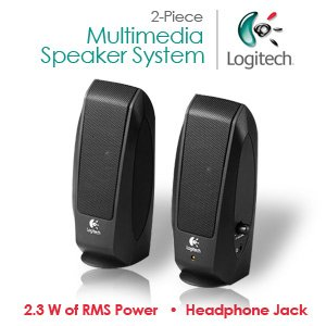 Logitech S120 2-Piece 2 Channel Multimedia Speaker System w/Headphone Jack (open box)